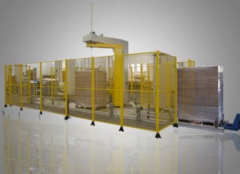 Masini de paletizat automate cu brat rotativ